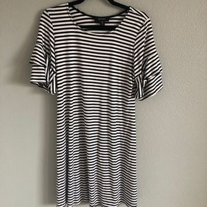 Black and white striped t shirt dress